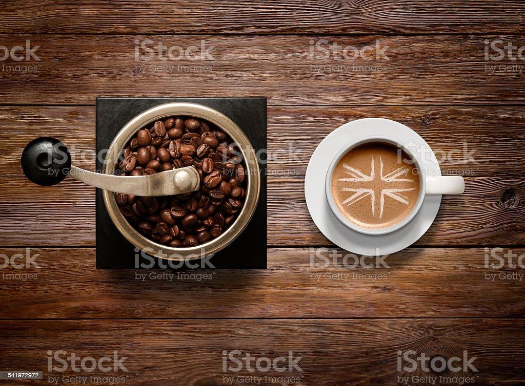 British Coffee stock photo