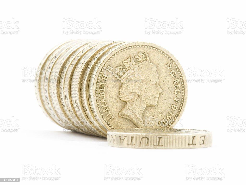 British Coins stock photo