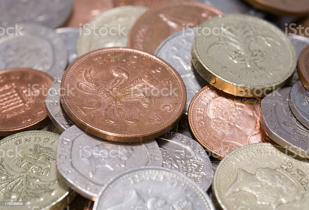 British coins royalty-free stock photo