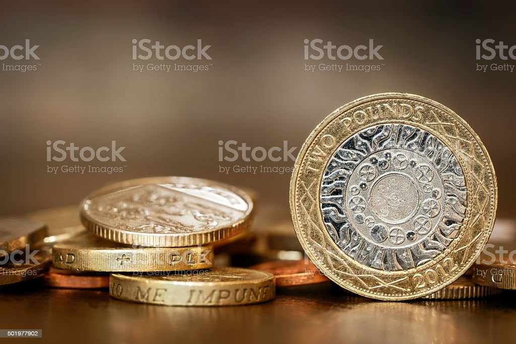 British Coins stock photo