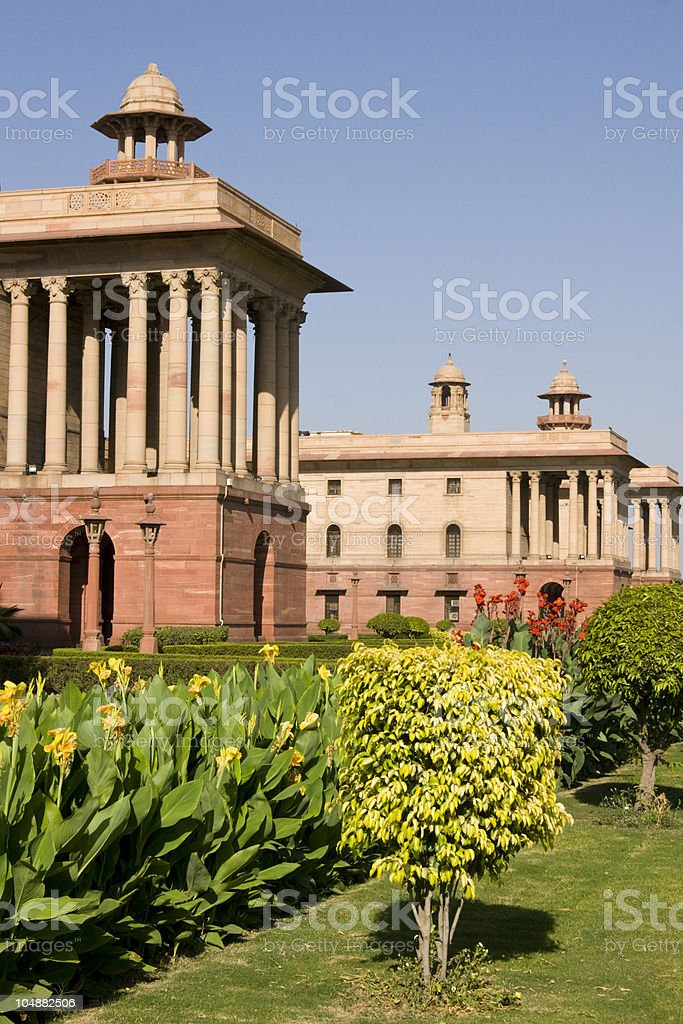 British Colonial Buildings royalty-free stock photo