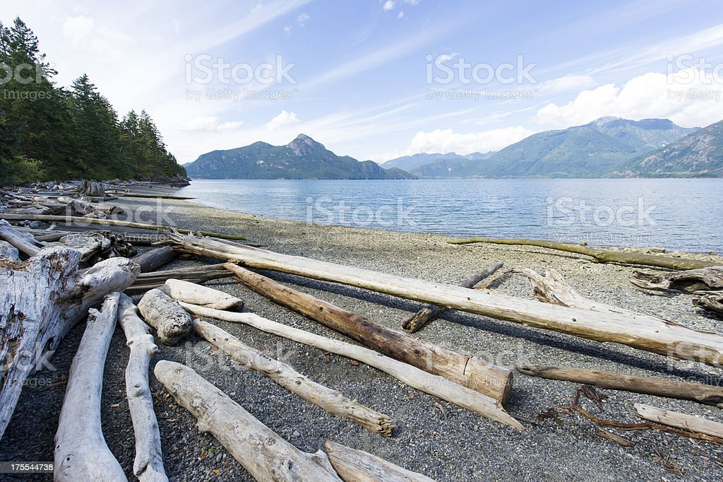 British Columbia Coast stock photo
