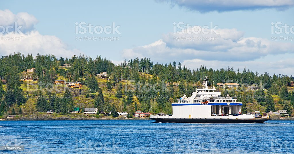 British Columbia Ferry royalty-free stock photo