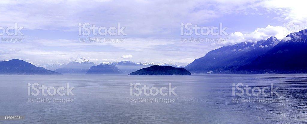 British Columbia Panorama stock photo