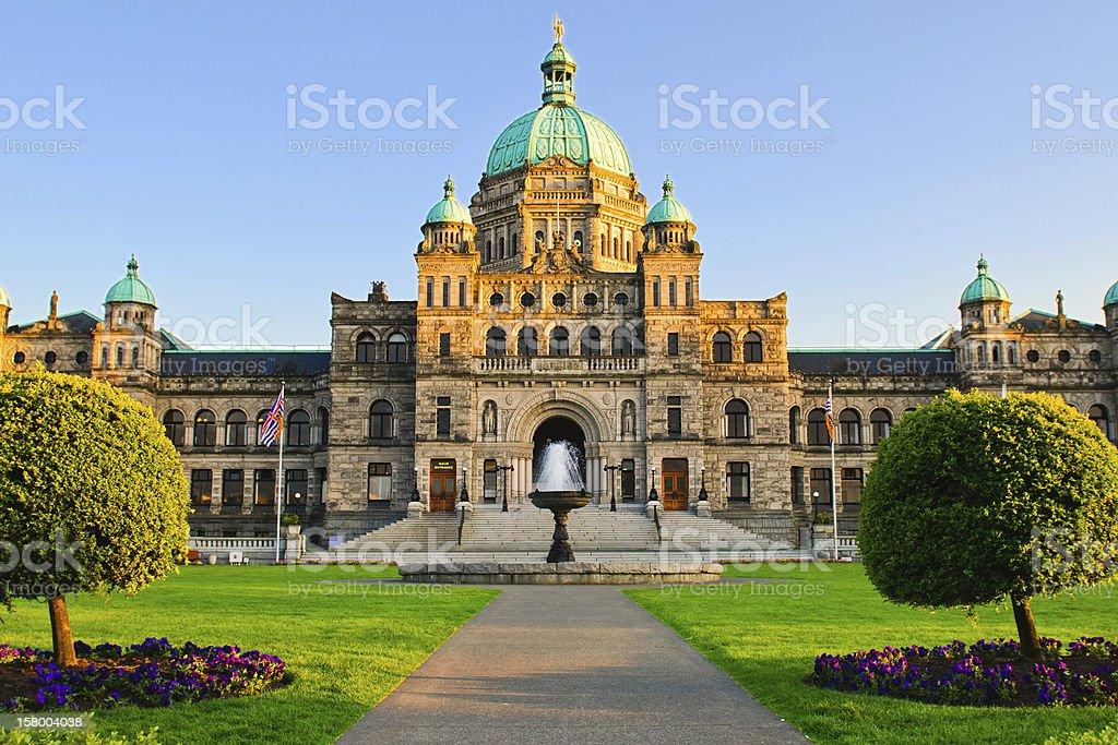British Columbia Parliament royalty-free stock photo