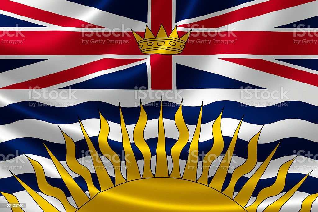 British Columbia Provincial Flag of Canada stock photo