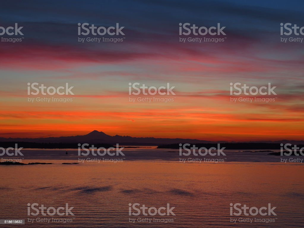 British Columbia Sunrise stock photo
