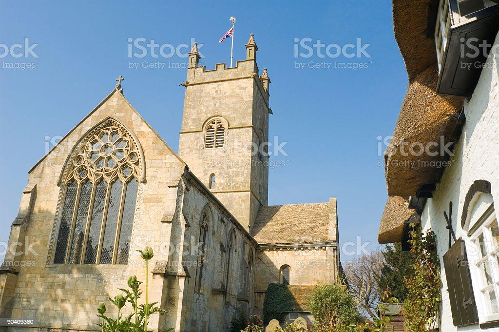 British country churchyard royalty-free stock photo