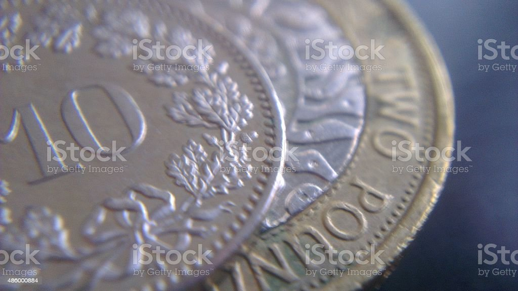 British Currency Coins stock photo