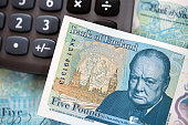 British Currency - Five Pound Note.
