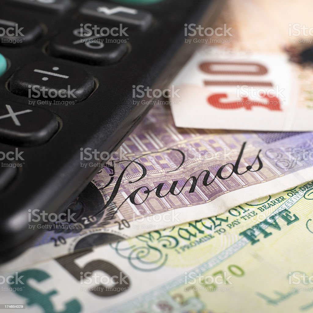 British currency stock photo