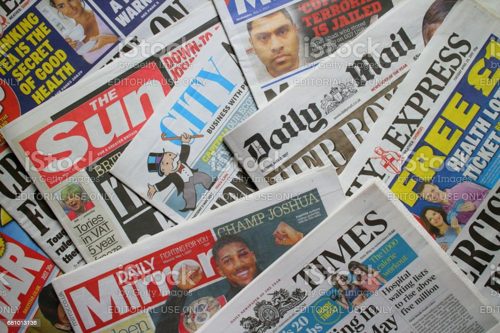 British Daily Newspapers stock photo