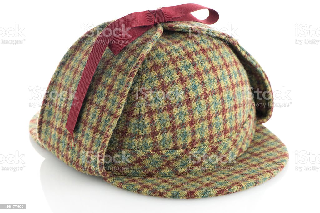 British Deerhunter or Sherlock Holmes cap stock photo