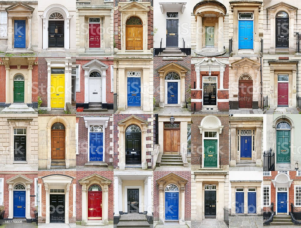 British Doors stock photo