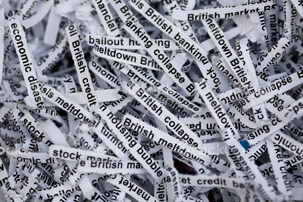 British Economy and Housing Meltdown around the World royalty-free stock photo