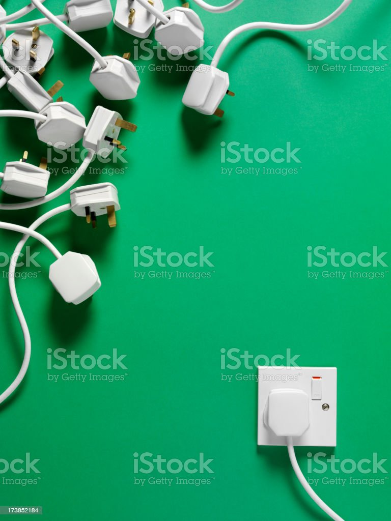 British Electrical Plugs and Socket royalty-free stock photo