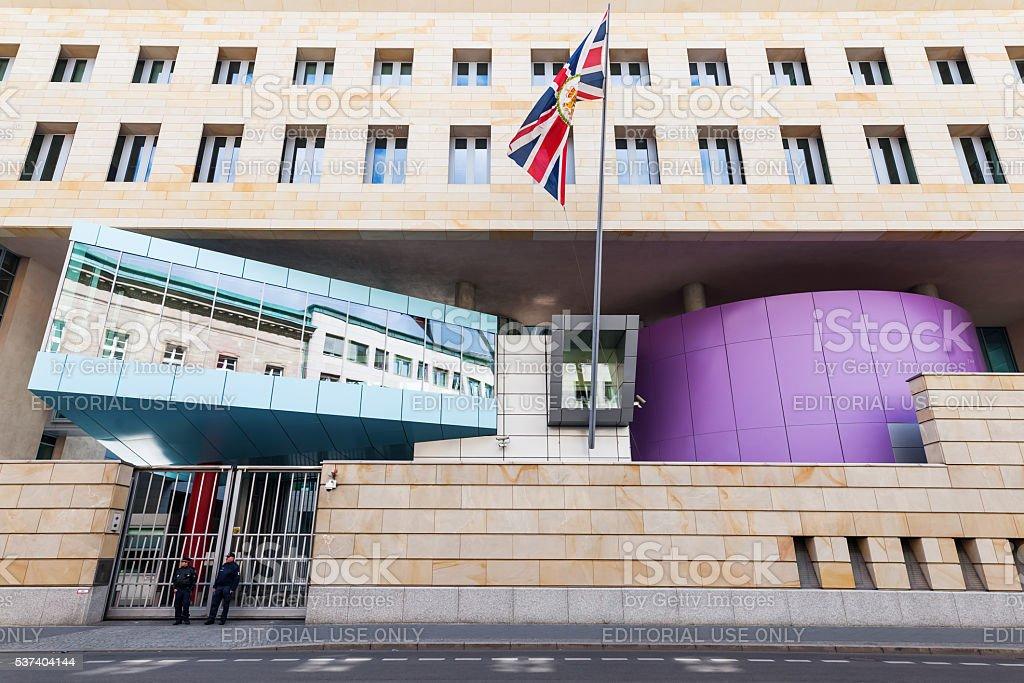 British Embassy in Berlin, Germany stock photo