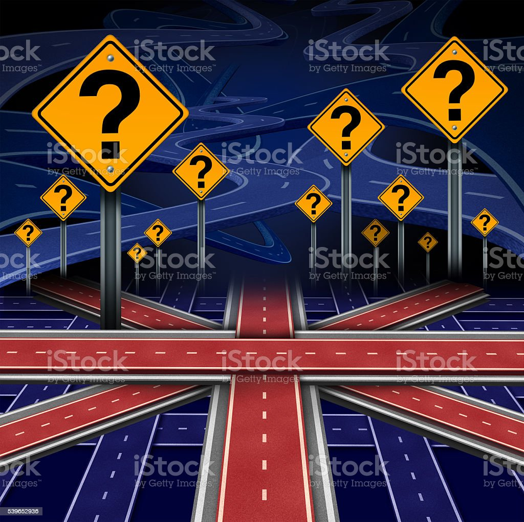 British European Question stock photo