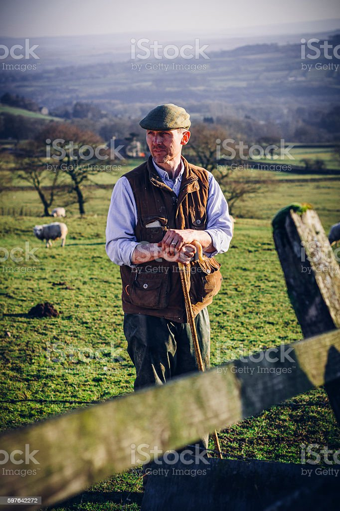 British Farmer stock photo