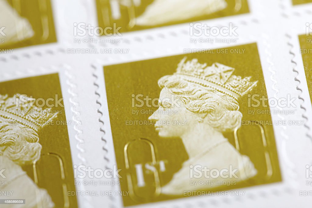 British First Class Stamps stock photo
