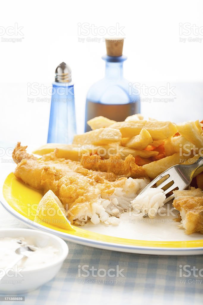British fish and chips stock photo