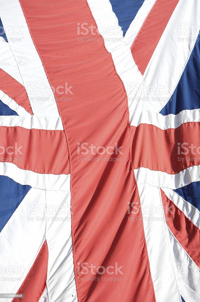 British Flag Closeup royalty-free stock photo
