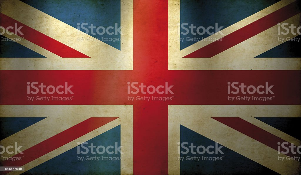 British Flag Grunge Wallpaper royalty-free stock photo