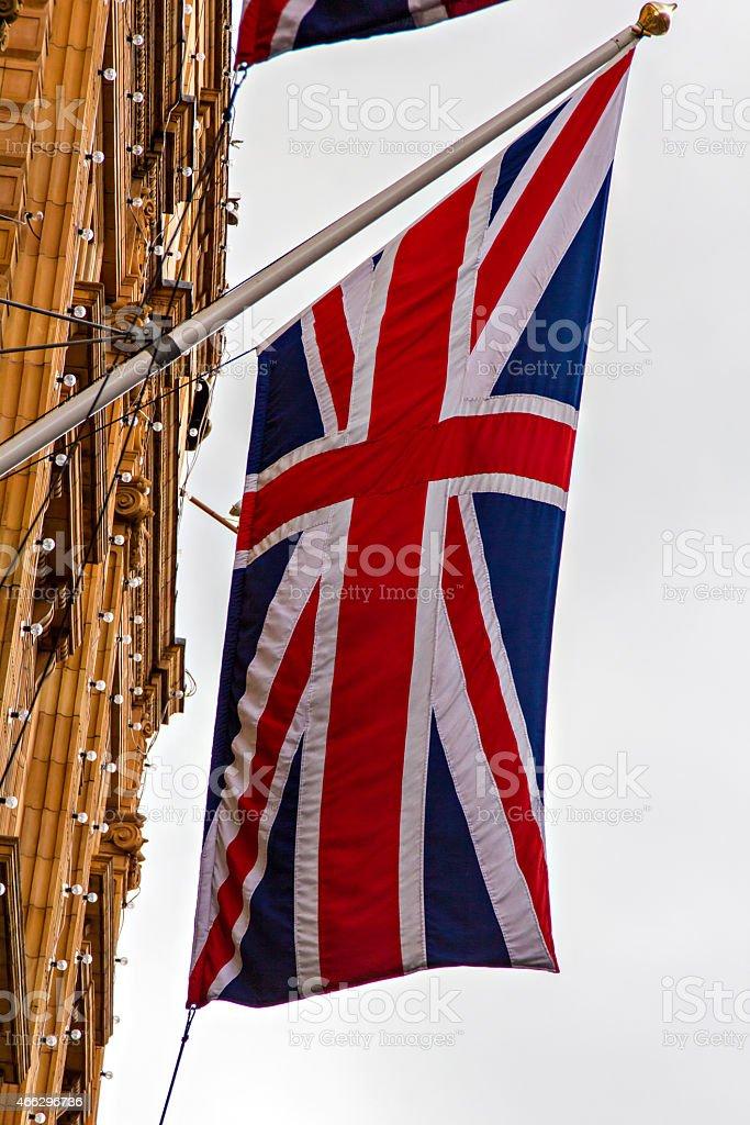 British flag hanging stock photo