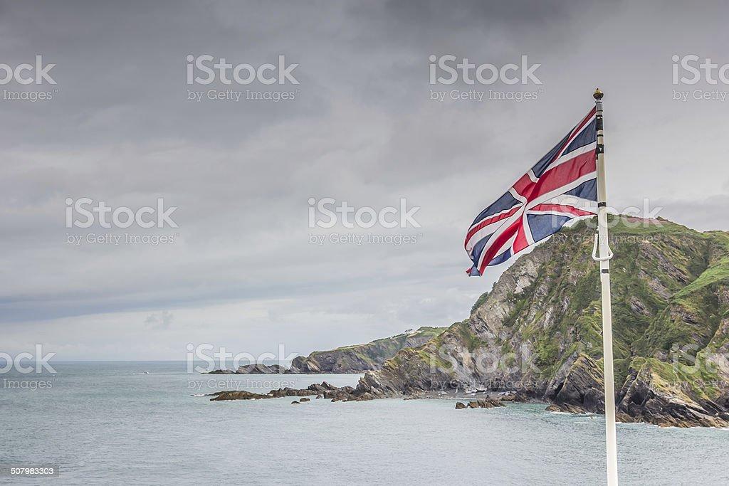 British Flag in Devon stock photo