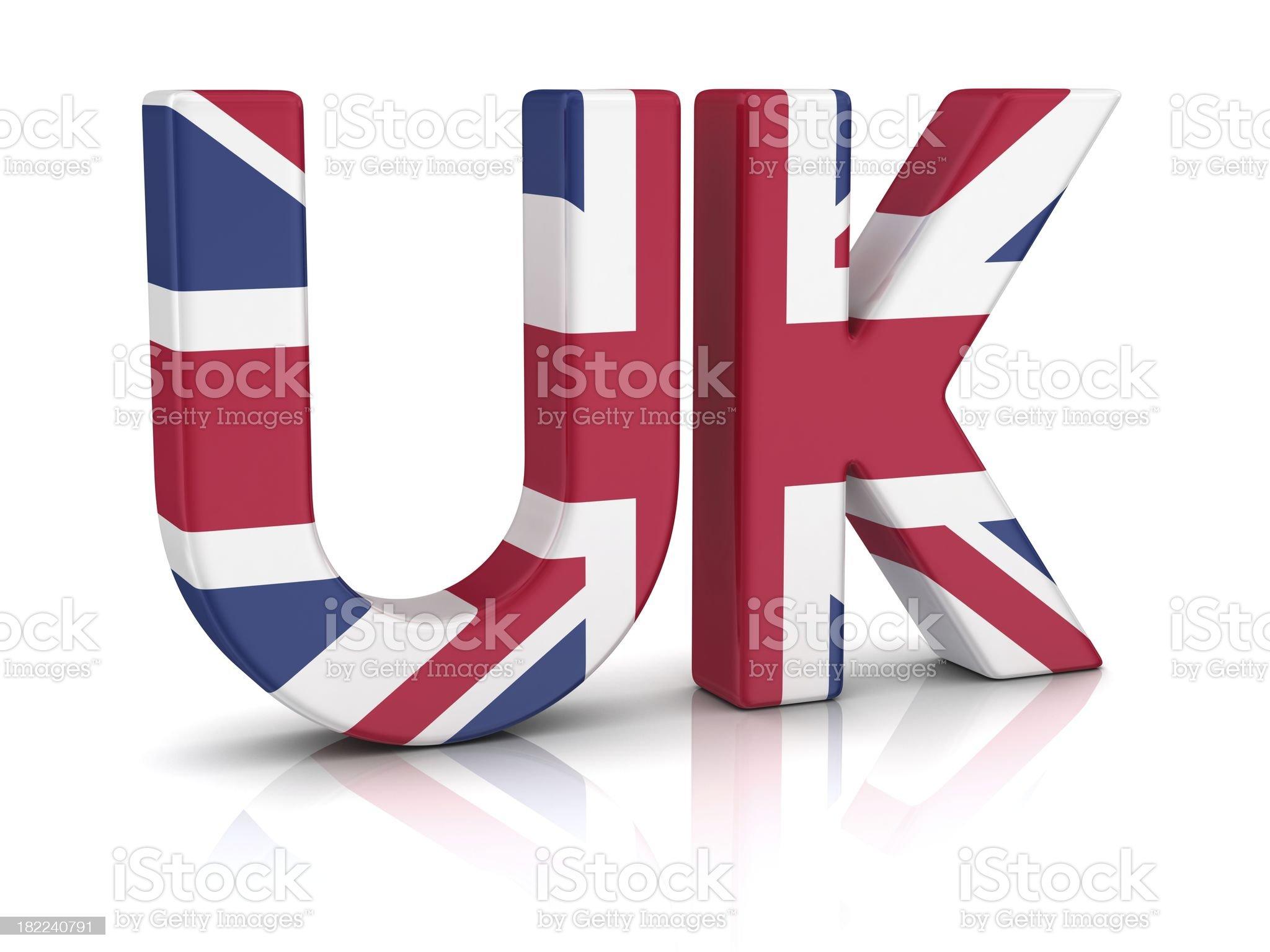 british flag on UK royalty-free stock photo