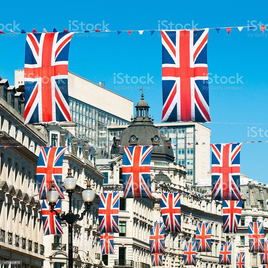 British Flags London royalty-free stock photo
