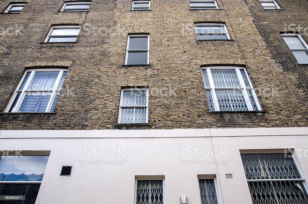 British flats stock photo