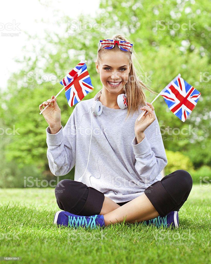 British girl royalty-free stock photo