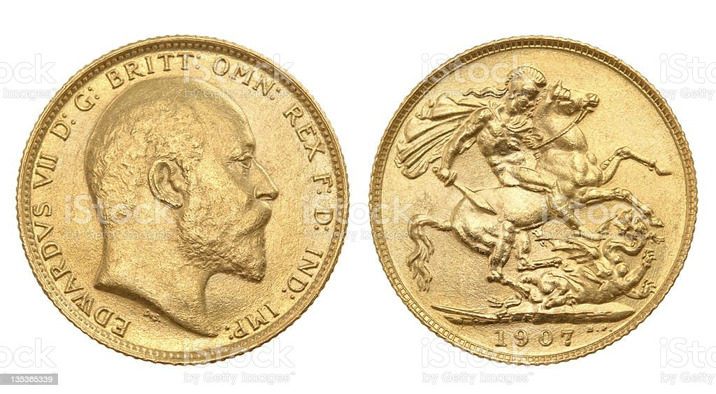 British gold sovereign royalty-free stock photo