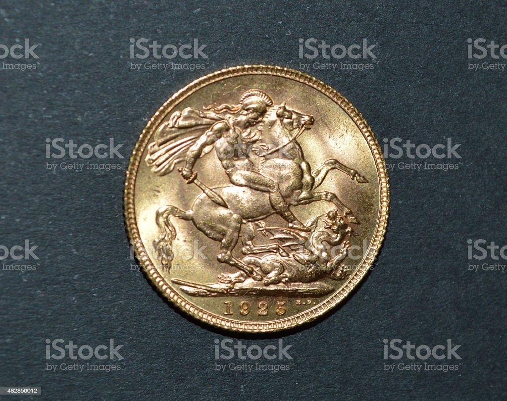 British oro sterling 1925 foto de stock libre de derechos