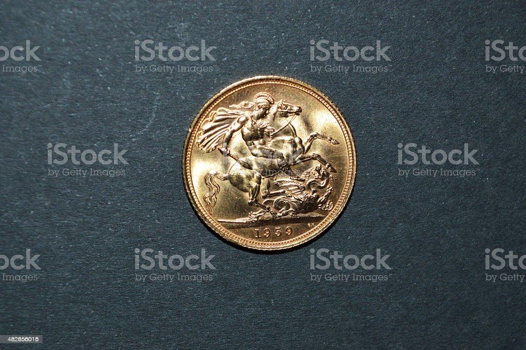 British oro sterling 1959 foto de stock libre de derechos
