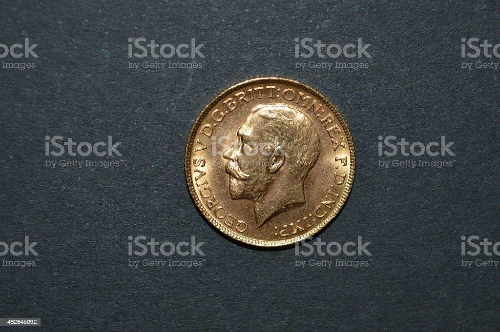 British oro sterling jorge VI foto de stock libre de derechos
