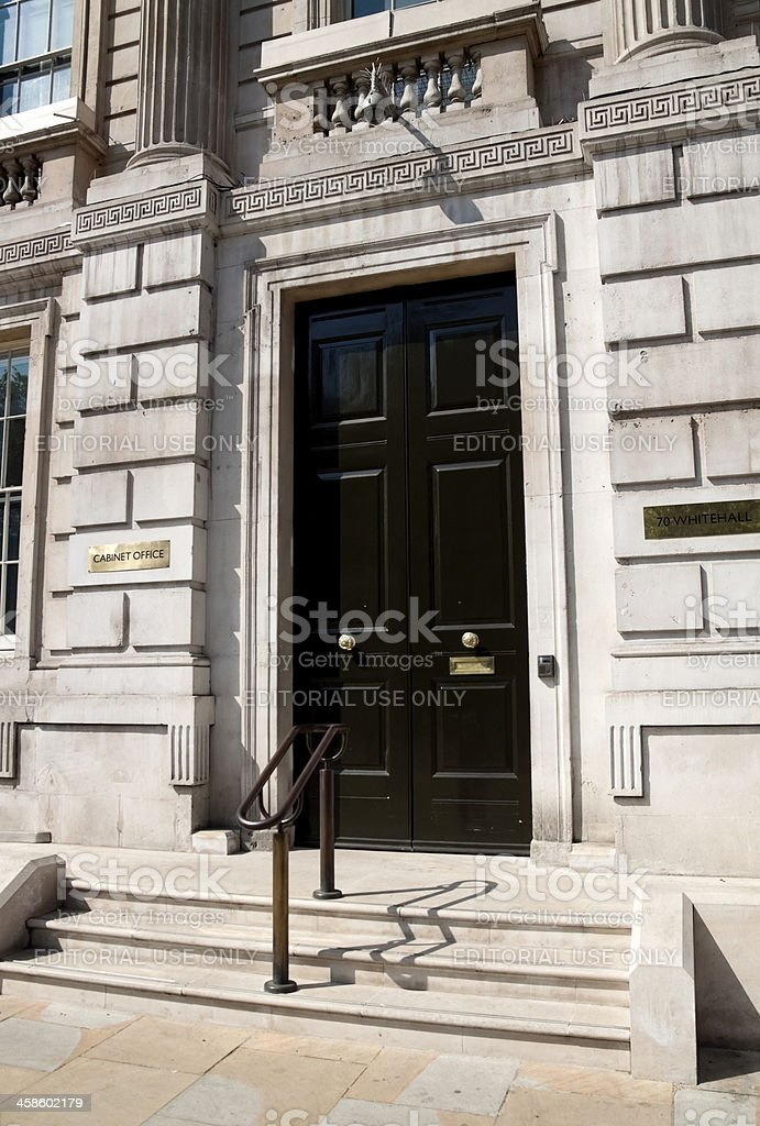 British Government Cabinet Office in Whitehall stock photo