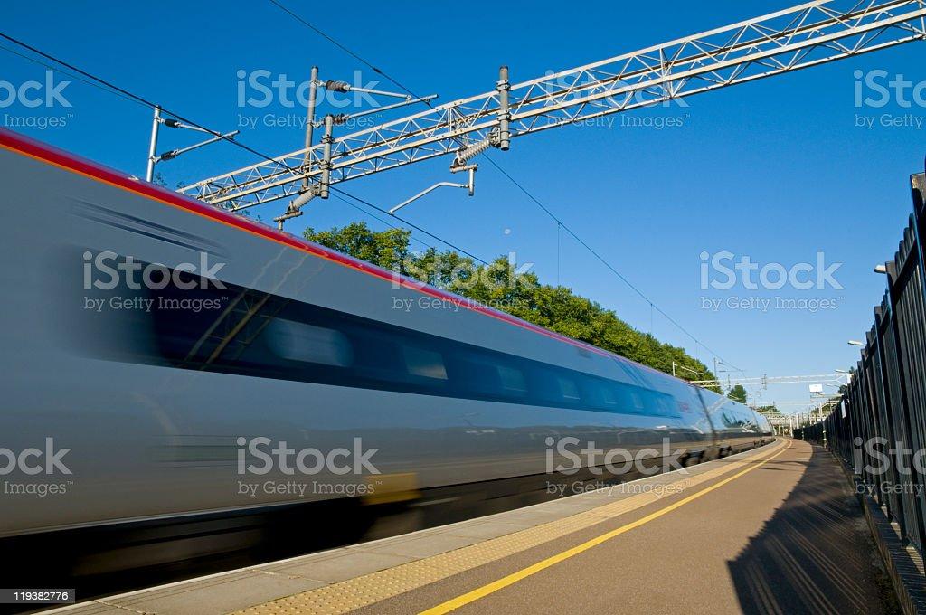 British High Speed Train stock photo