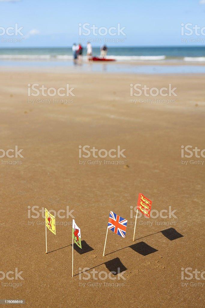 British holiday beach royalty-free stock photo