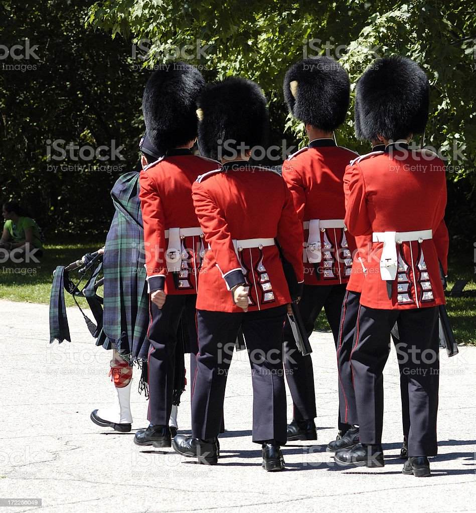 British Honor guards marching royalty-free stock photo