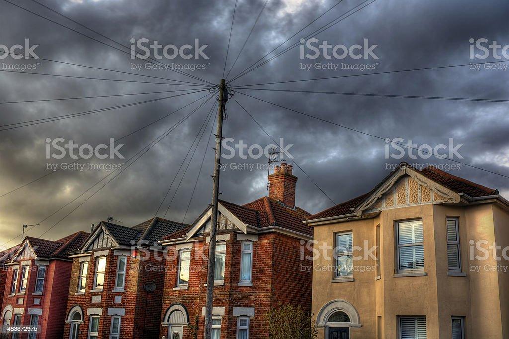 British Houses HDR stock photo