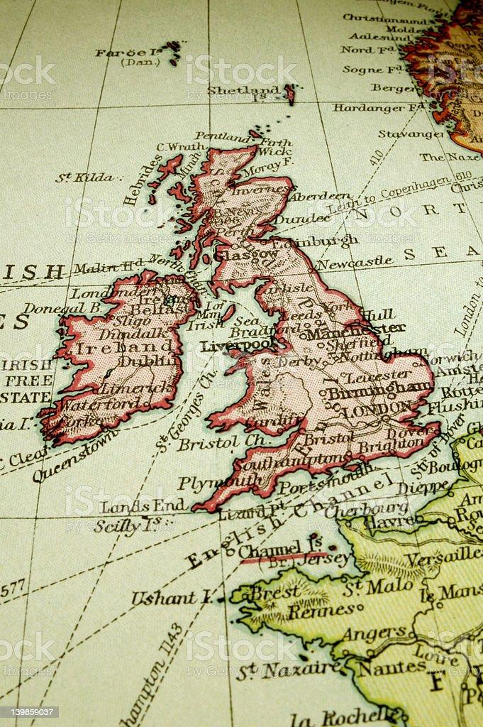 British Isles stock photo