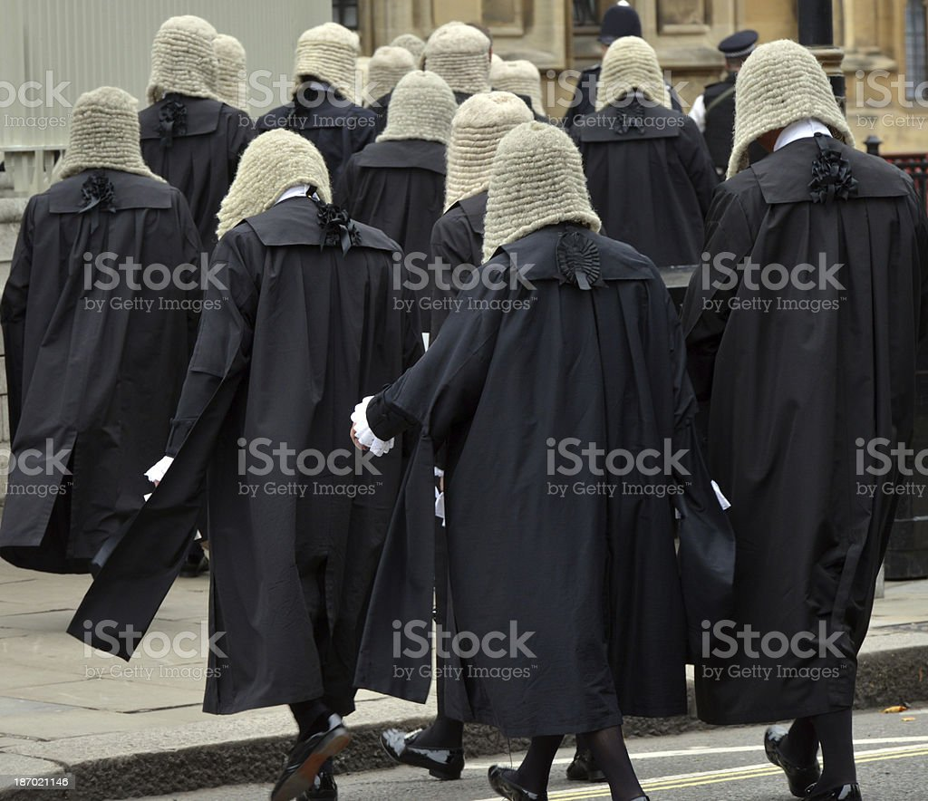 British Judges stock photo