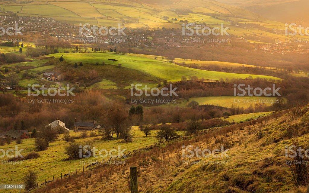 British Landscape stock photo