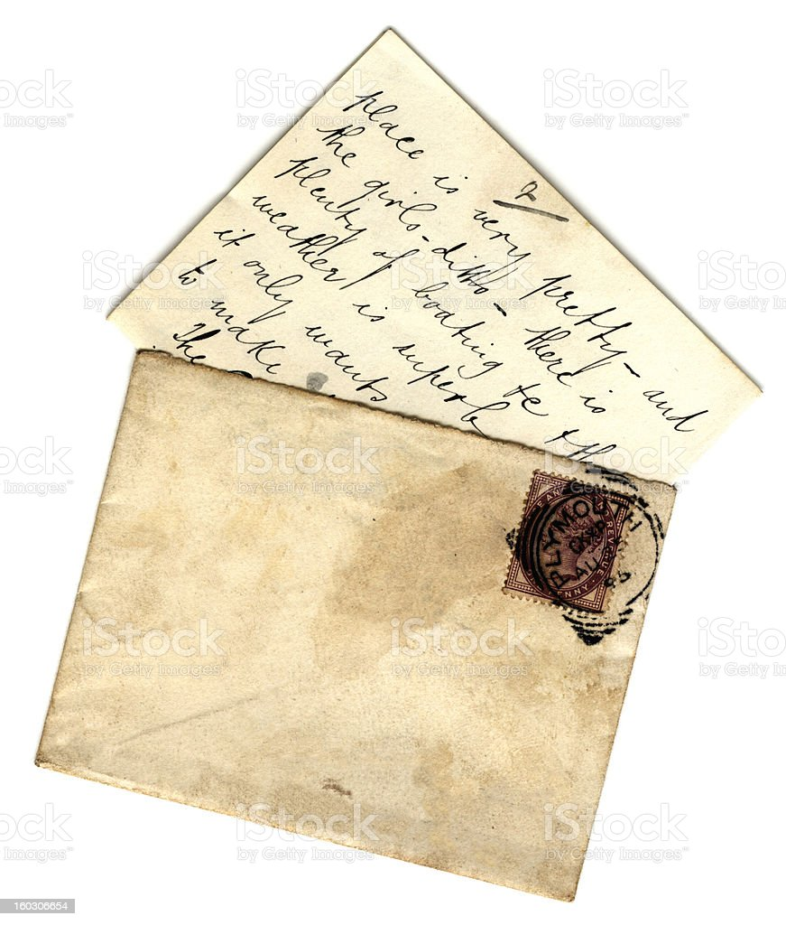 British letter and envelope royalty-free stock photo