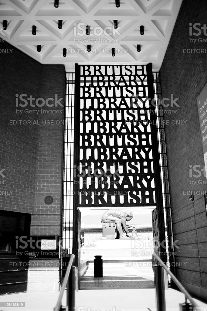 British Library, King's Cross Area, London stock photo