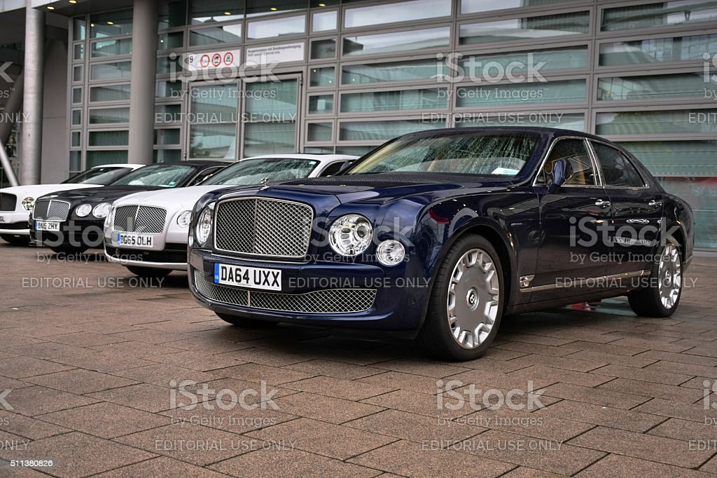 British limousines in a row stock photo