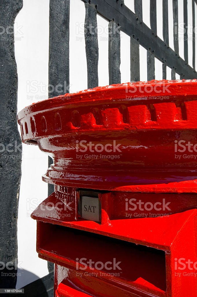 British Mail Box royalty-free stock photo