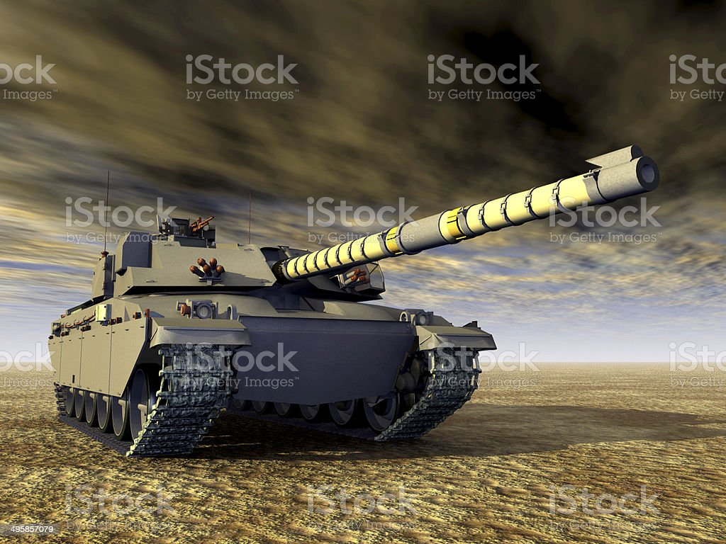 British Main Battle Tank stock photo